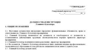 Должностная инструкция бухгалтера кассира 2019 год по профстандарту