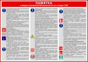 Инструкция по пожарной безопасности на складах гсм