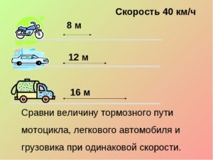 Расчет тормозного пути мотоцикла калькулятор