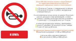 Закон о тишине в омске 2019 52 фз