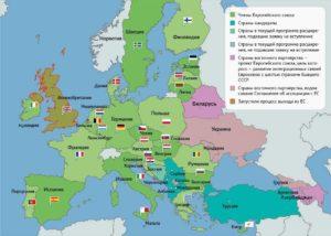 Какие страны европы не входят в ес на 2019