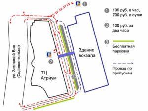 Парковка для встречающих курский вокзал