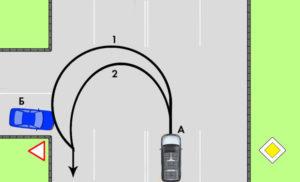 Примеры разворота на т образном перекрестке
