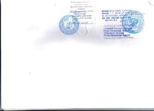 Прошивка устава при регистрации образец