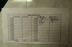 Пример график уборки туалета в больнице