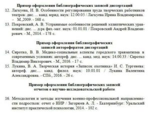Автореферат диссертации в списке литературы оформление